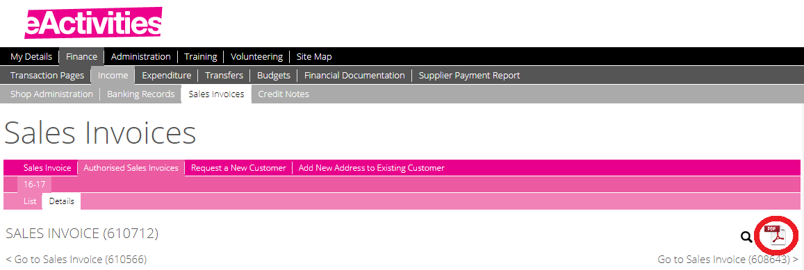 Sales Invoices   Sales Invoices Eactivities